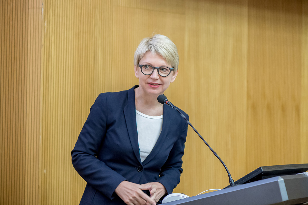 The head of the DAAD Information Office in St. Petersburg, Ms. Beate Kolberg, pointed out the perfect outcomes of the cooperation between SPbPU and LUH