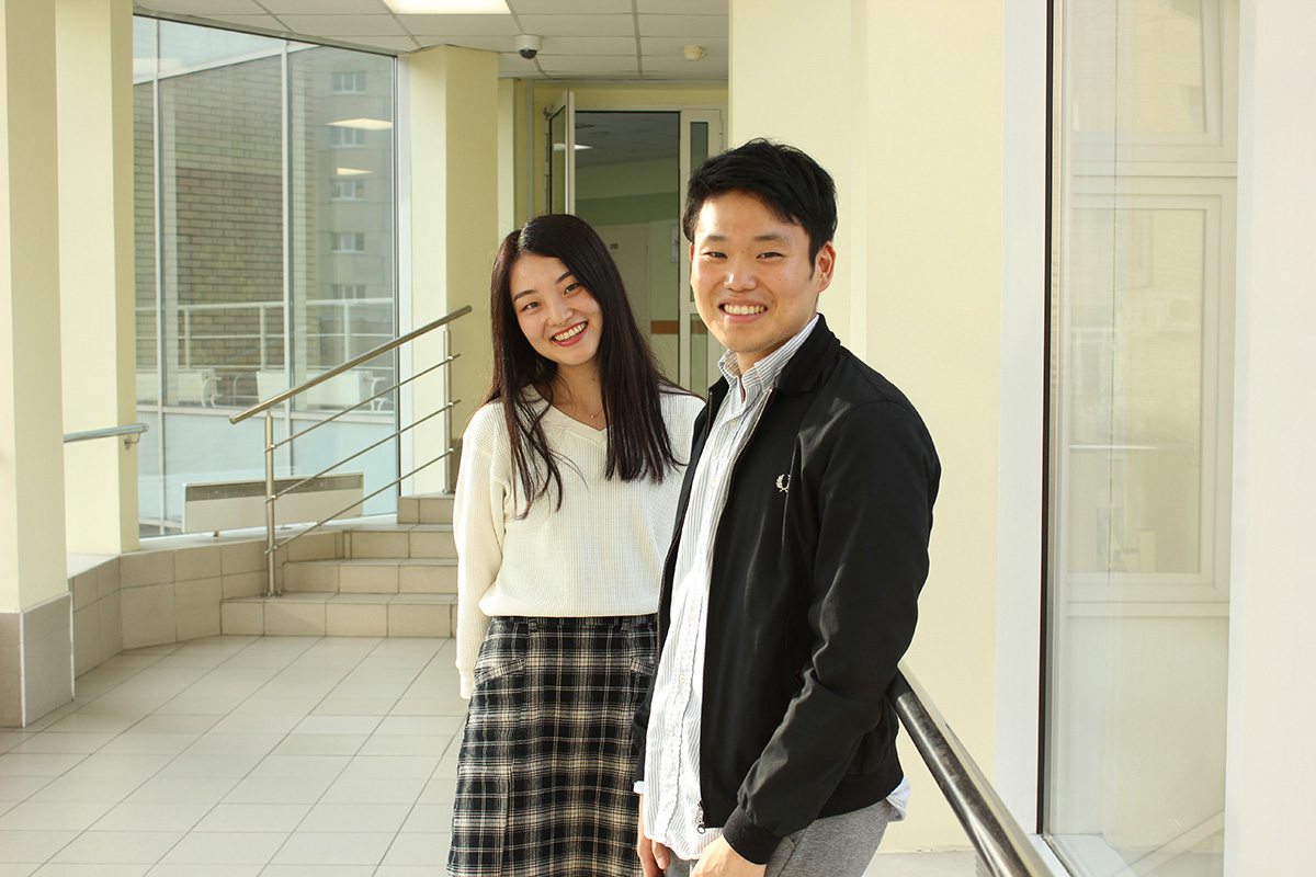 Yutaro HARA and Hiromi TANABE talked about their studies at the International Polytechnic Summer School