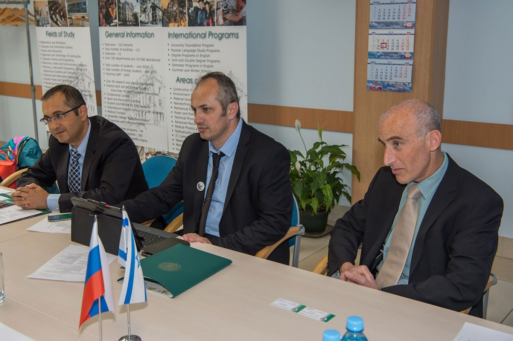 SPbPU Received a Visit of Israel's Consul General and Representatives from Ariel University  Israel