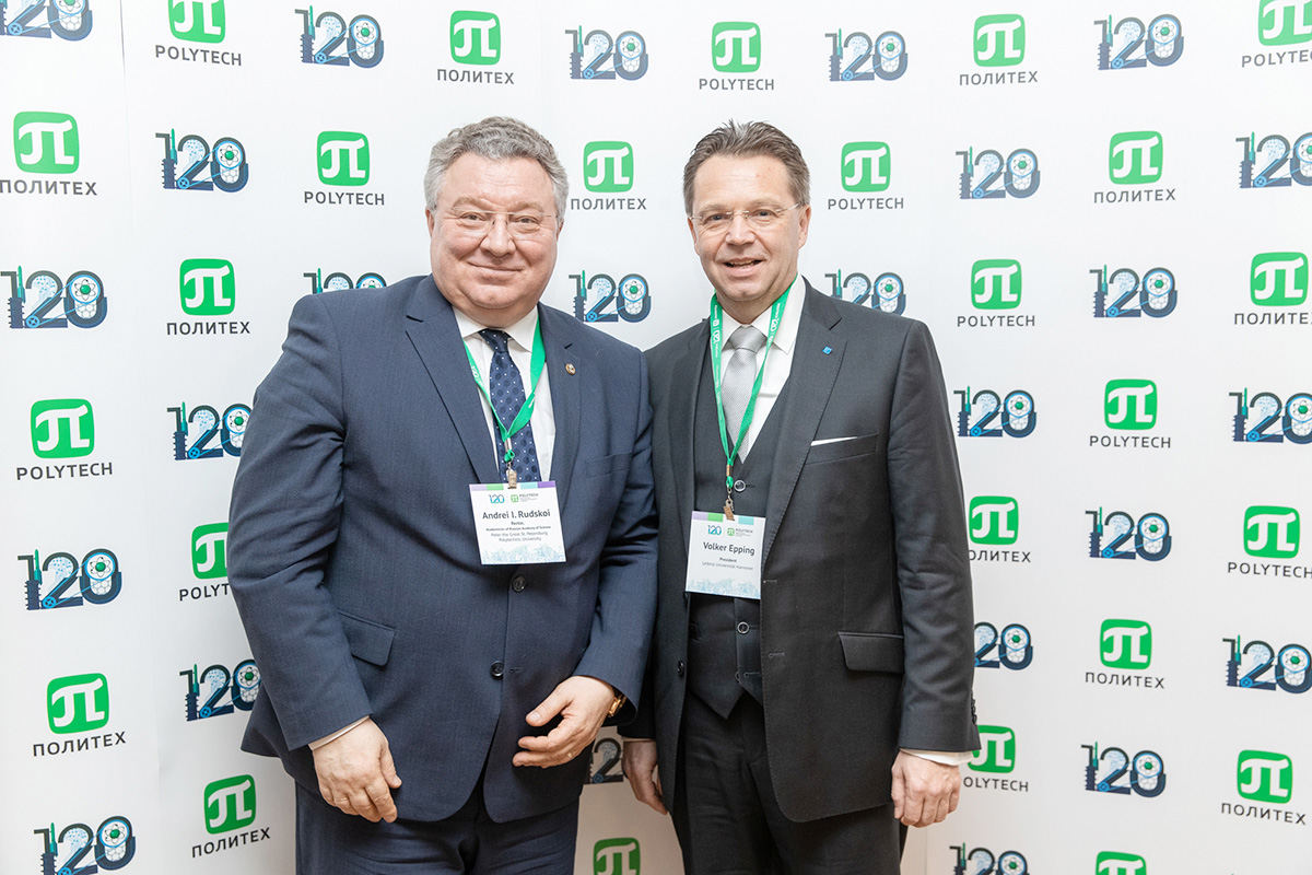 Peter the Great St. Petersburg Polytechnic University together with its strategic partner Leibniz University Hannover will celebrate the 35th anniversary of cooperation