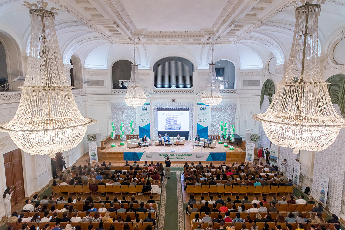 The official opening ceremony of the International Polytechnic Summer School was held in the White Hall of SPbPU