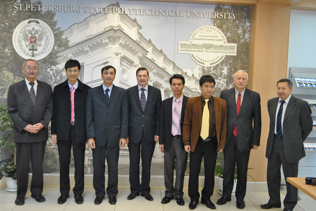 The Delegation of SPbPU at Posts and Telecommunications Institute of Technology, Hanoi, Vietnam