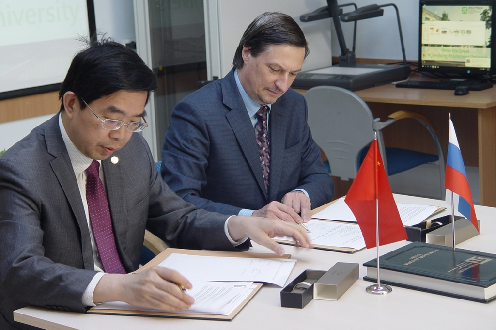 SPbPU and Jiao Tong University come to an agreement on cooperation and student exchange