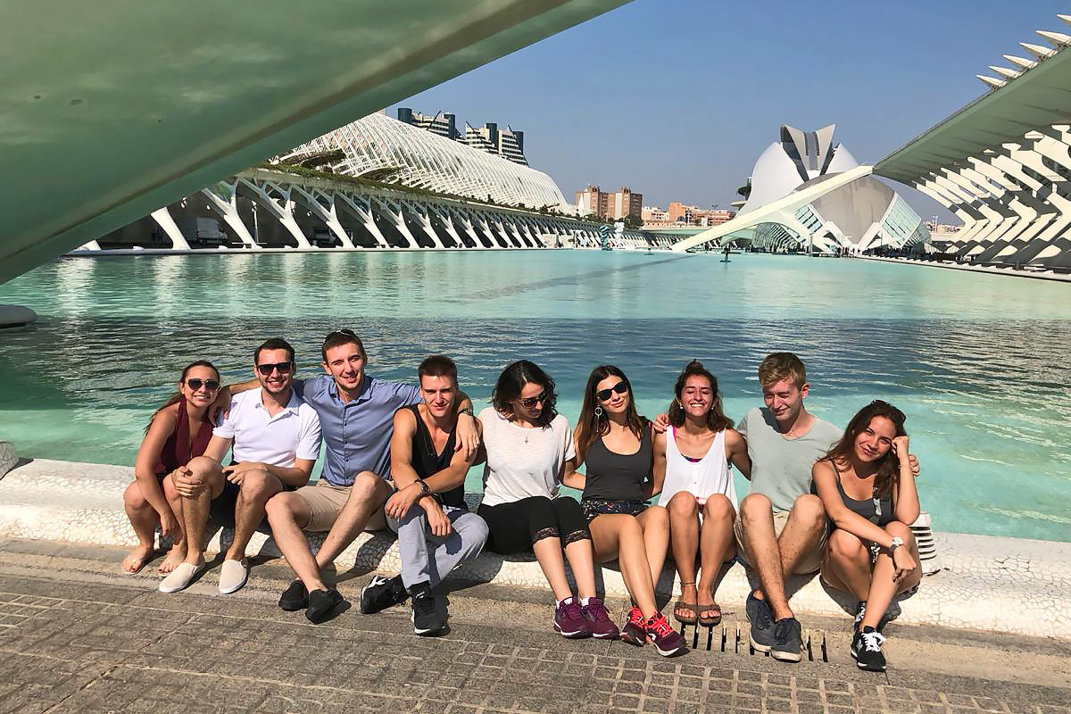 At one of the excursions, UPM students got to learn about the creative works of architect Santiago Kalatrava