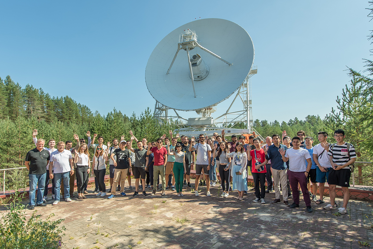 Students of International Polytechnic Summer School study the far-off space and land-based technologies of its study