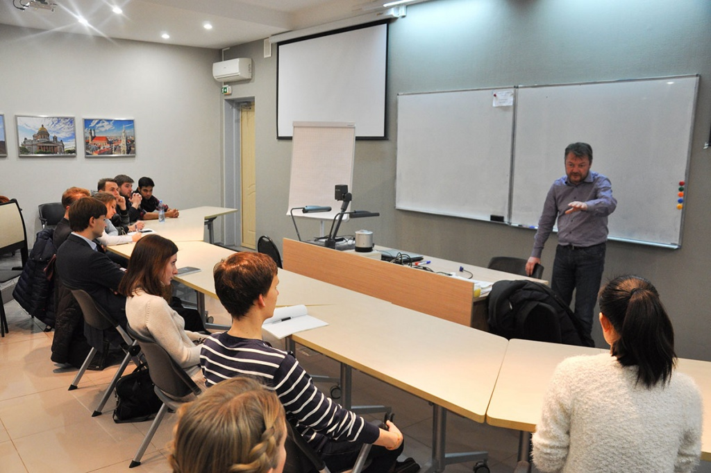 Professor TU Berlin told SPbPU's students about Innovation Business