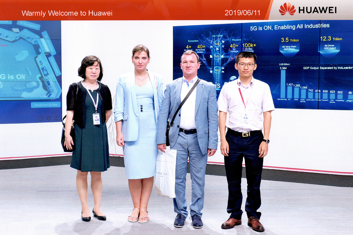 SPbPU representatives visited one of the main offices of Huawei