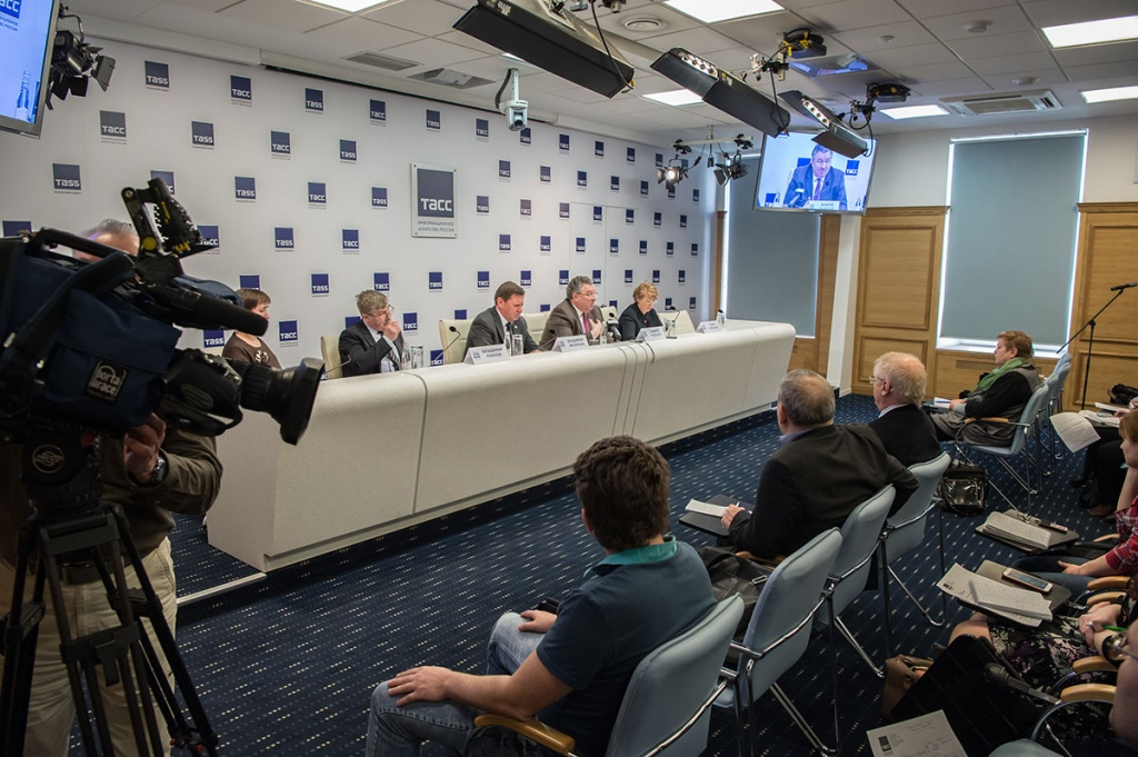 SPbPU Rector A.I. Rudskoy Sharing his Thoughts on Competitiveness of Russian Universities at the Press Conference in TASS