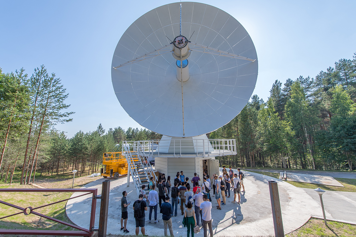 The excursion to the radio astronomy observatory did leave anybody unimpressed