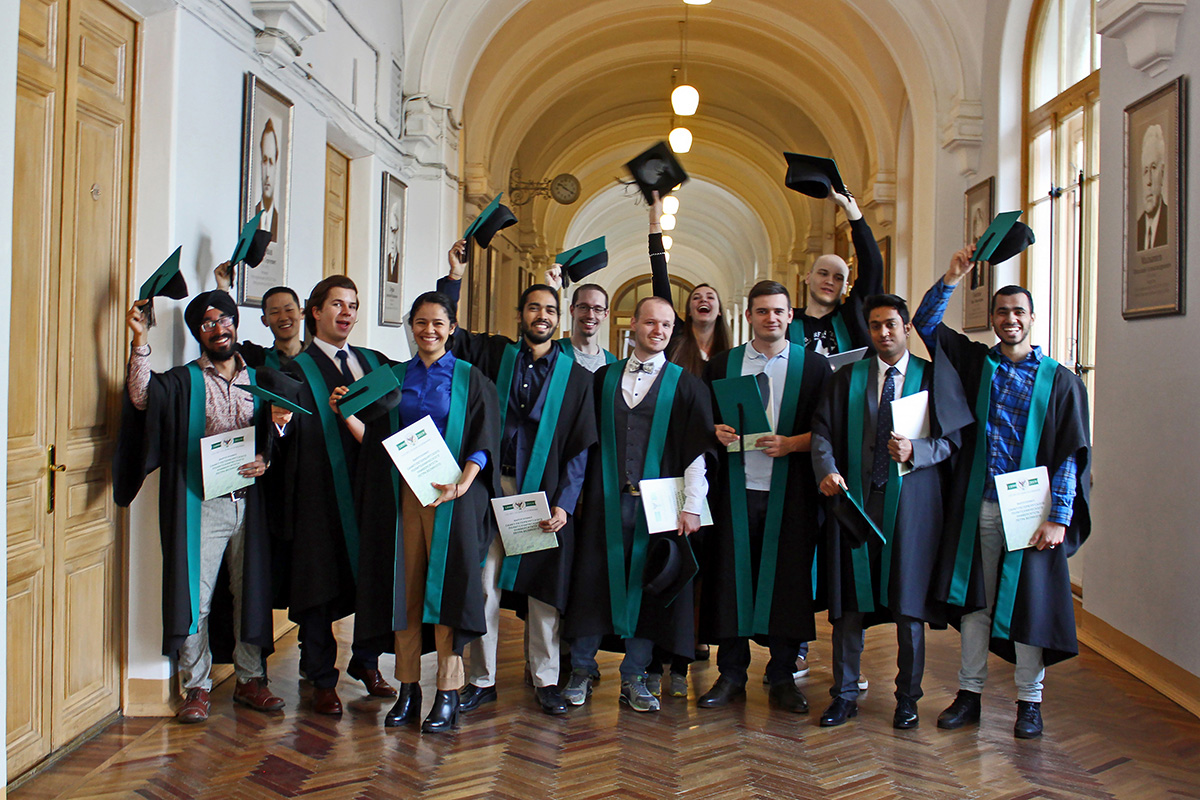 "This week, Master's degree holders of the ""Intelligent systems"" International Program were taking congratulations"