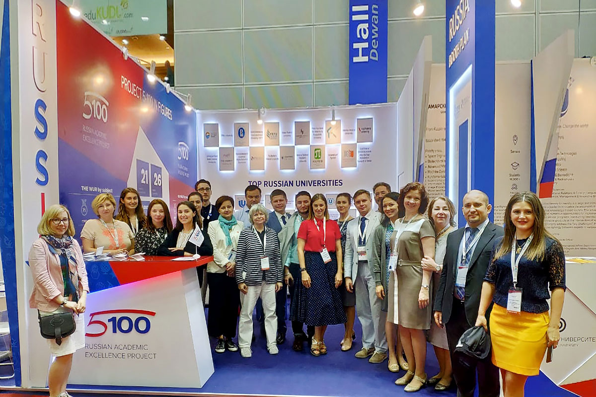 At the AOAIE, SPbPU was represented along with other Russian 5-100 Project participant universities at the joint Russia's stand