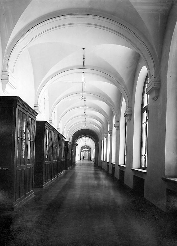 Corridor in the Chemistry building. 1902