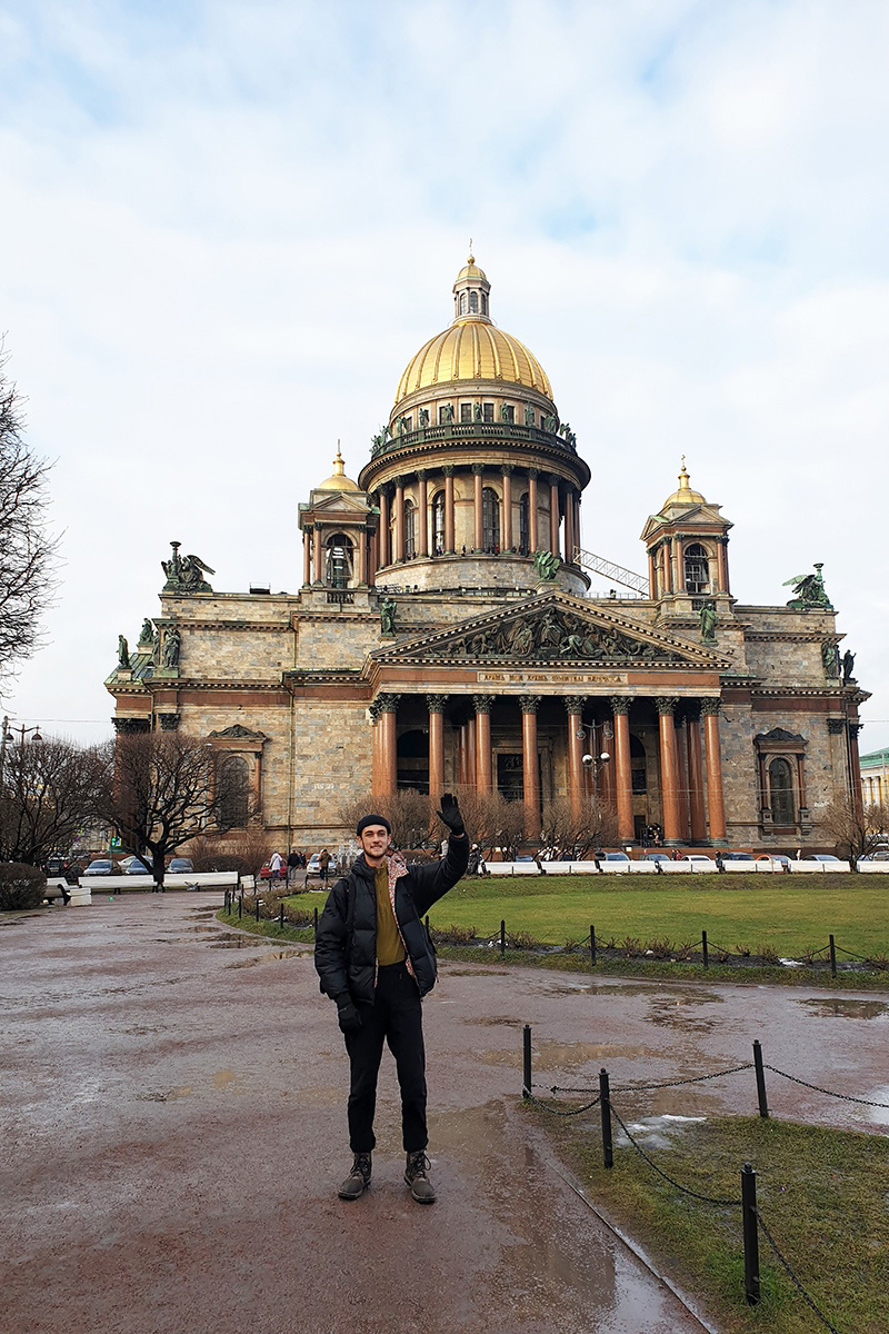 The student from Australia was impressed by the architecture of St. Petersburg