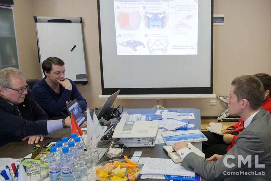Representatives of URSC and Roscosmos State Corporation Visited SPbPU Engineering Center