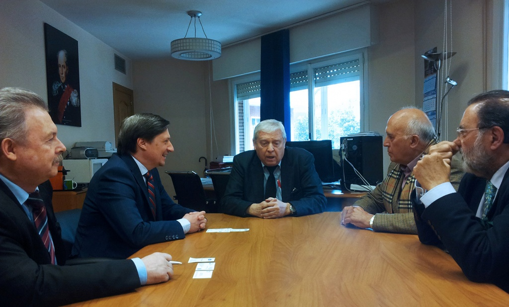Anticipating opening of the University's Information Center: Governor of St. Petersburg visited Madrid
