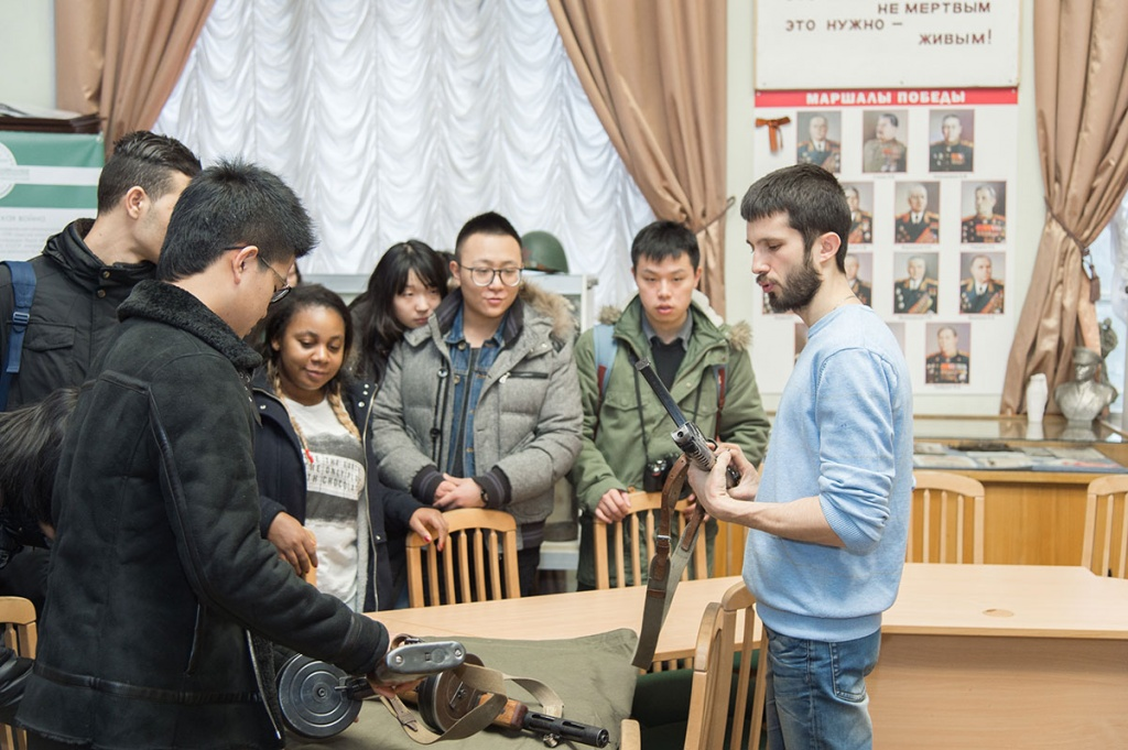 A Guided Tour to SPbPU Military History Museum for Students of the Preparatory Faculty, Institute of International Educational Programs