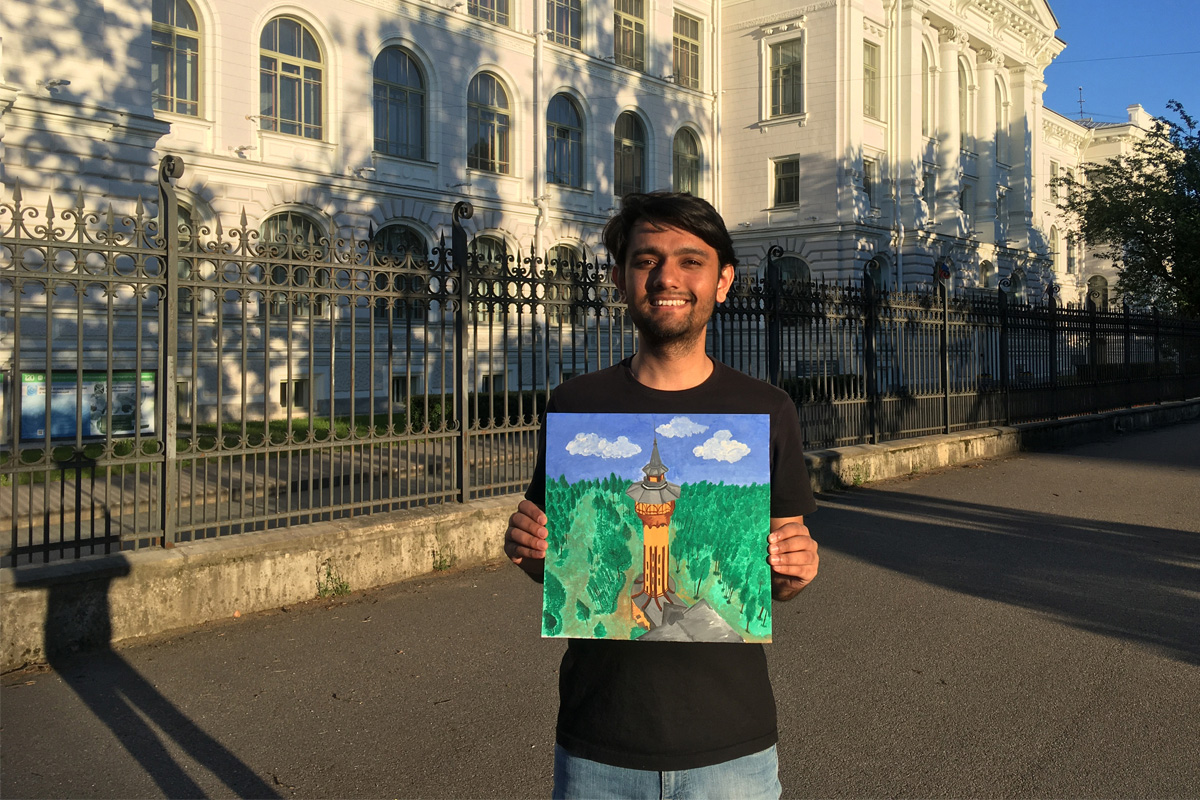Tanuj NAMBUDRI from India studies at SPbPU and creates amazing pictures