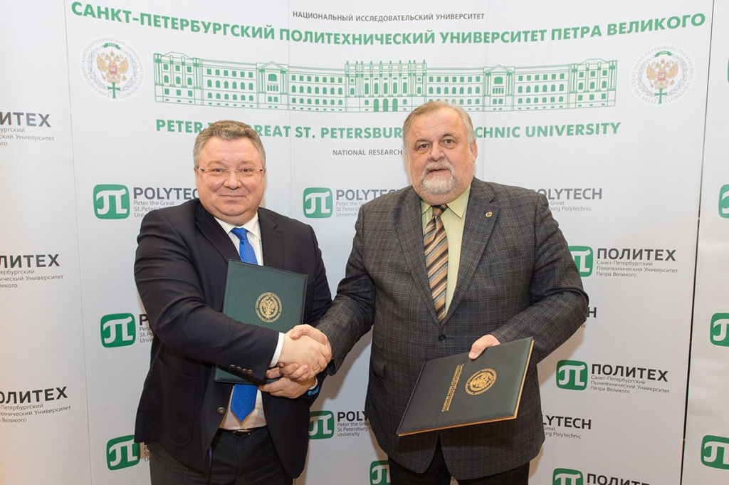 Rector of SPbPU A.I. Rudskoy and General Director of VIAM E.N. Kablov Signed an Agreement on R&D Consortium
