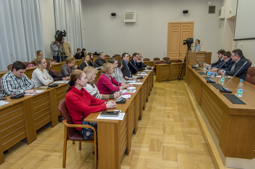 Meeting of the Public Relations Commission and Mass Media of the Council of Rectors of St. Petersburg in SPbPU