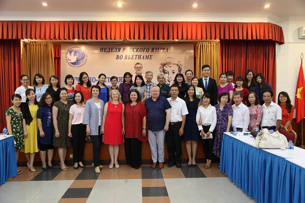 Instructors of the Higher School of International Educational Programs took an active part in the Week of the Russian language in Hanoi