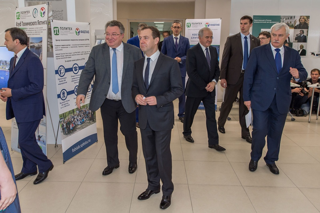 Dmitry Medvedev Praised the Polytech Student Know-How