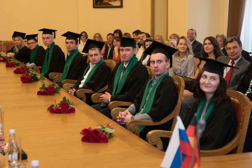 First Graduates of the  Industrial Management Educational Program