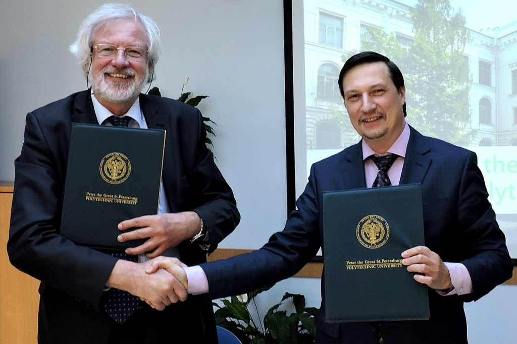 SPbPU Signed an Agreement of Intent with the Delegation of the Free University of Brussels