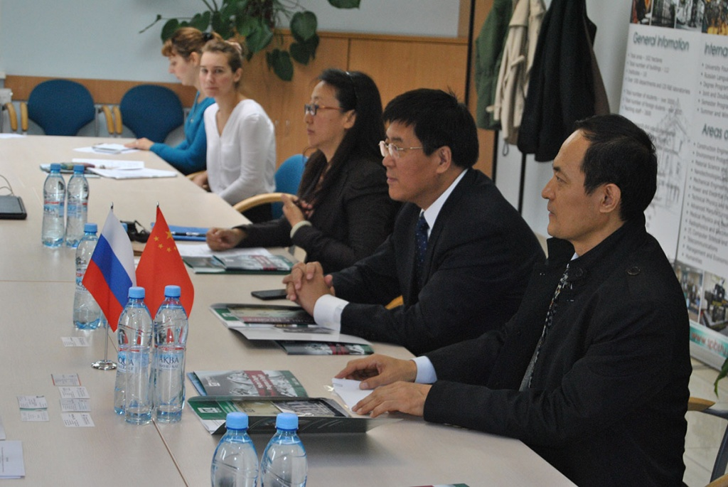 A meeting with Chinese partners