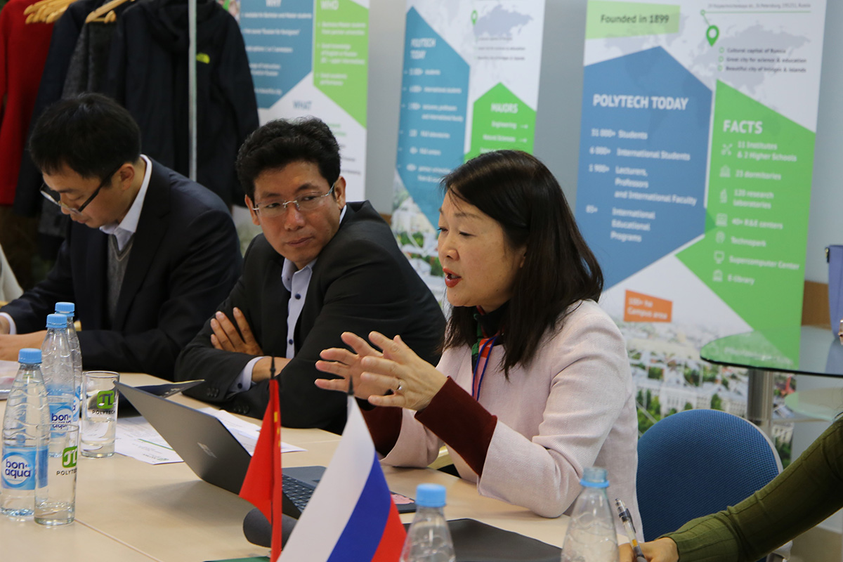 Representatives of the Polytechnic University and Tsinghua University discussed the development of joint research projects