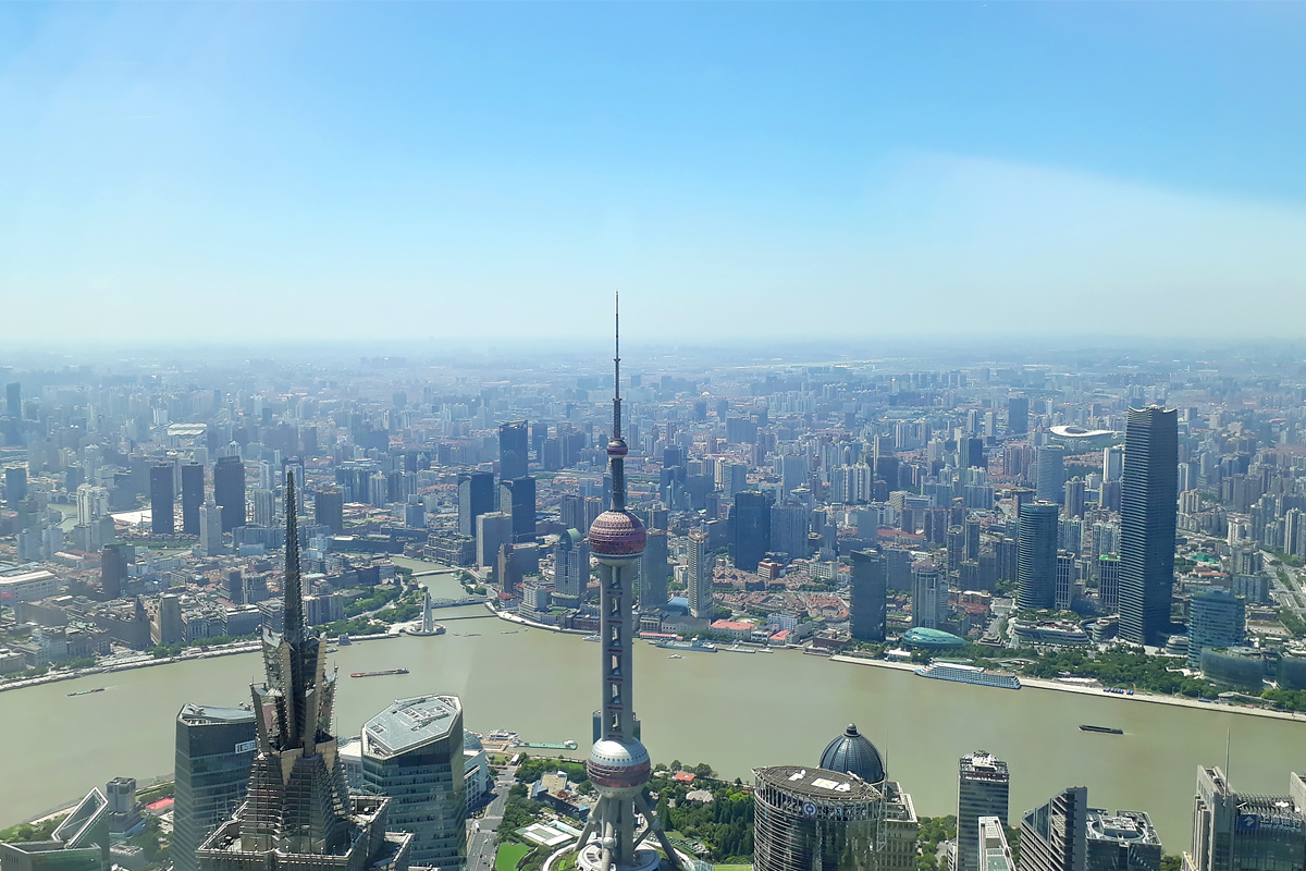 SPbPU students saw Shanghai from the height