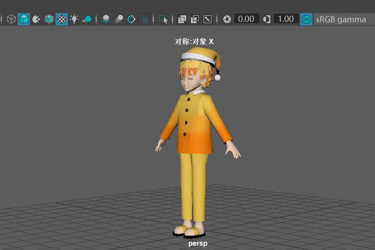 A student from China created a game character as part of the game design module at SPbPU