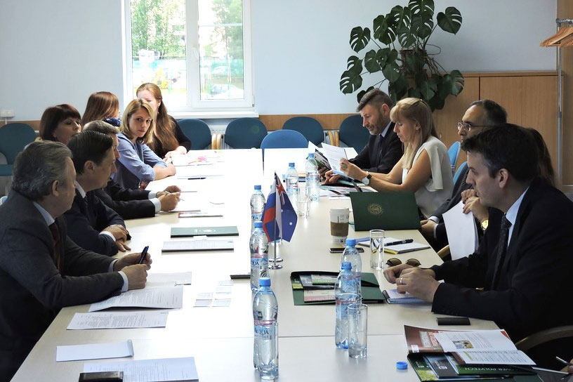 Educational Mission of the Virginia State and Australian Universities Visits SPbPU