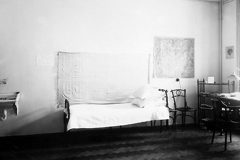 Room in a student residence hall. 1902