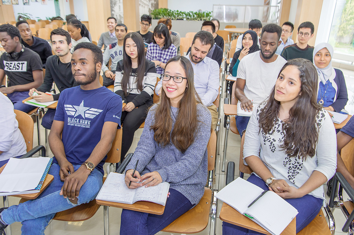 Many international students study at SPbPU international campus all year round