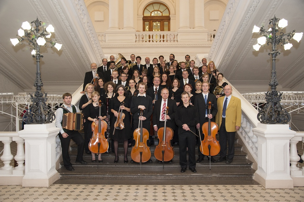 The White Hall of SPbPU, in turn, hosted the University Orchestra of Graz