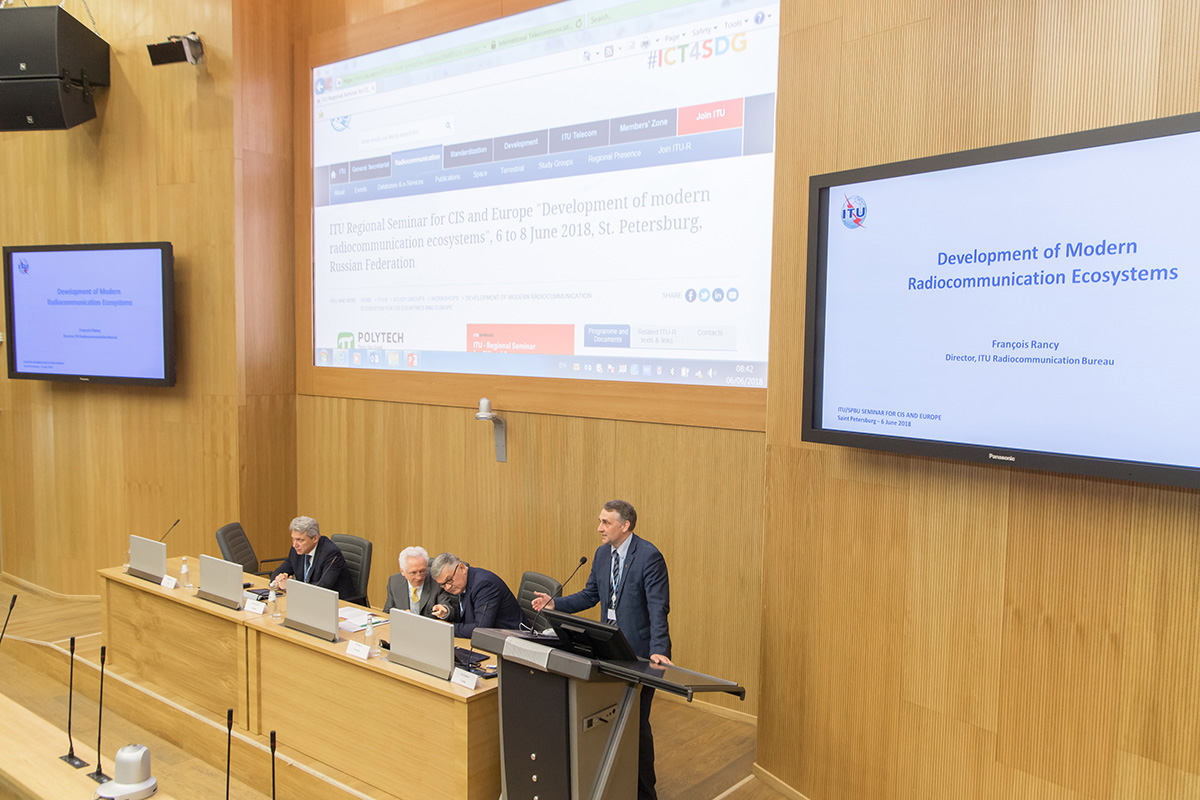 SPbPU and ITU held a joint seminar for the CIS and European countries dedicated to the Development of the Modern Radio Communication Ecosystem
