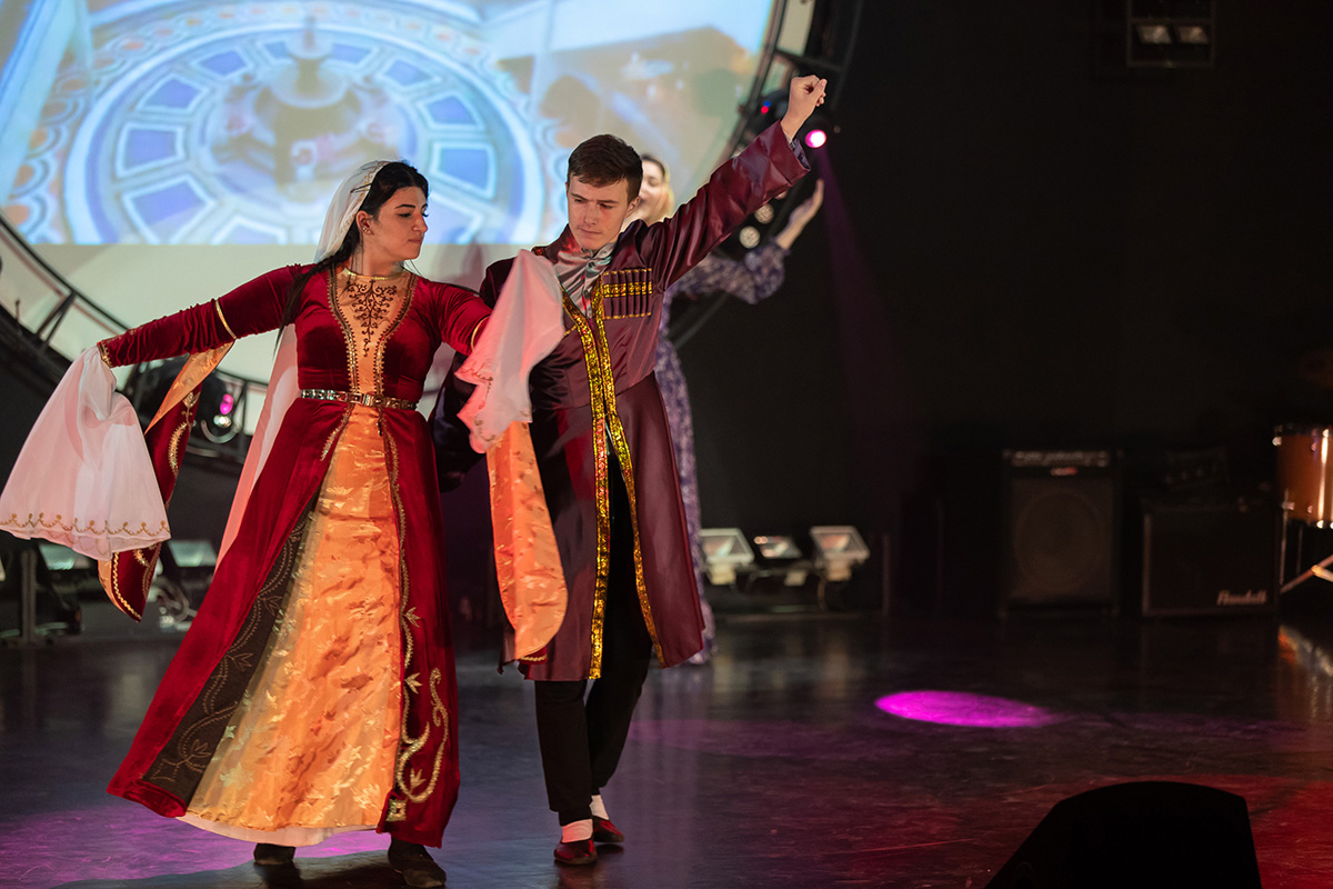 Students presented bright and colorful performances at the Golden Autumn – 2018 Festival