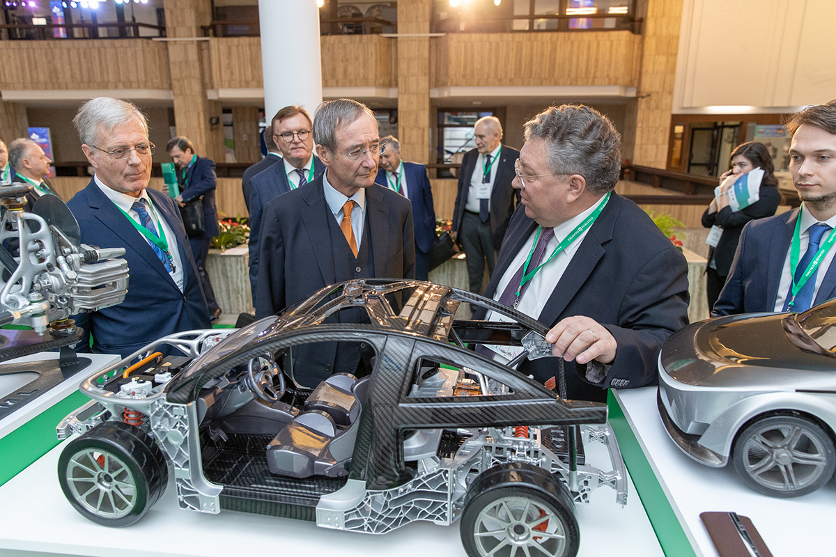 At the Days of the Polytech in Berlin forum, an exhibit of scientific developments was opened