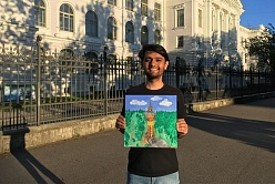 International Student of the Polytechnic University Studies Mechanical Engineering and Creates Amazing Paintings.  IndiaEducationDiary