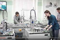 Worldskills championship on mechatronics in SPbPU